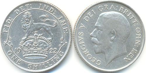 монета шиллинг 1922 год