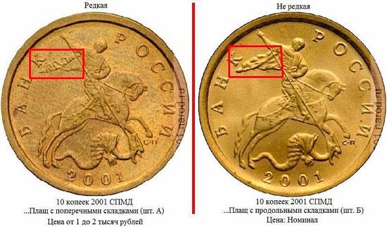 Ценные и редкие монеты
